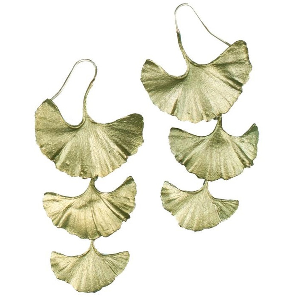 Gingko Design Drop Earrings | Michael Michaud Jewelry | SS4076bz