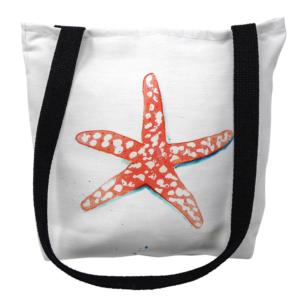 Coral Starfish Tote Bag   Betsy Drake   TY091M