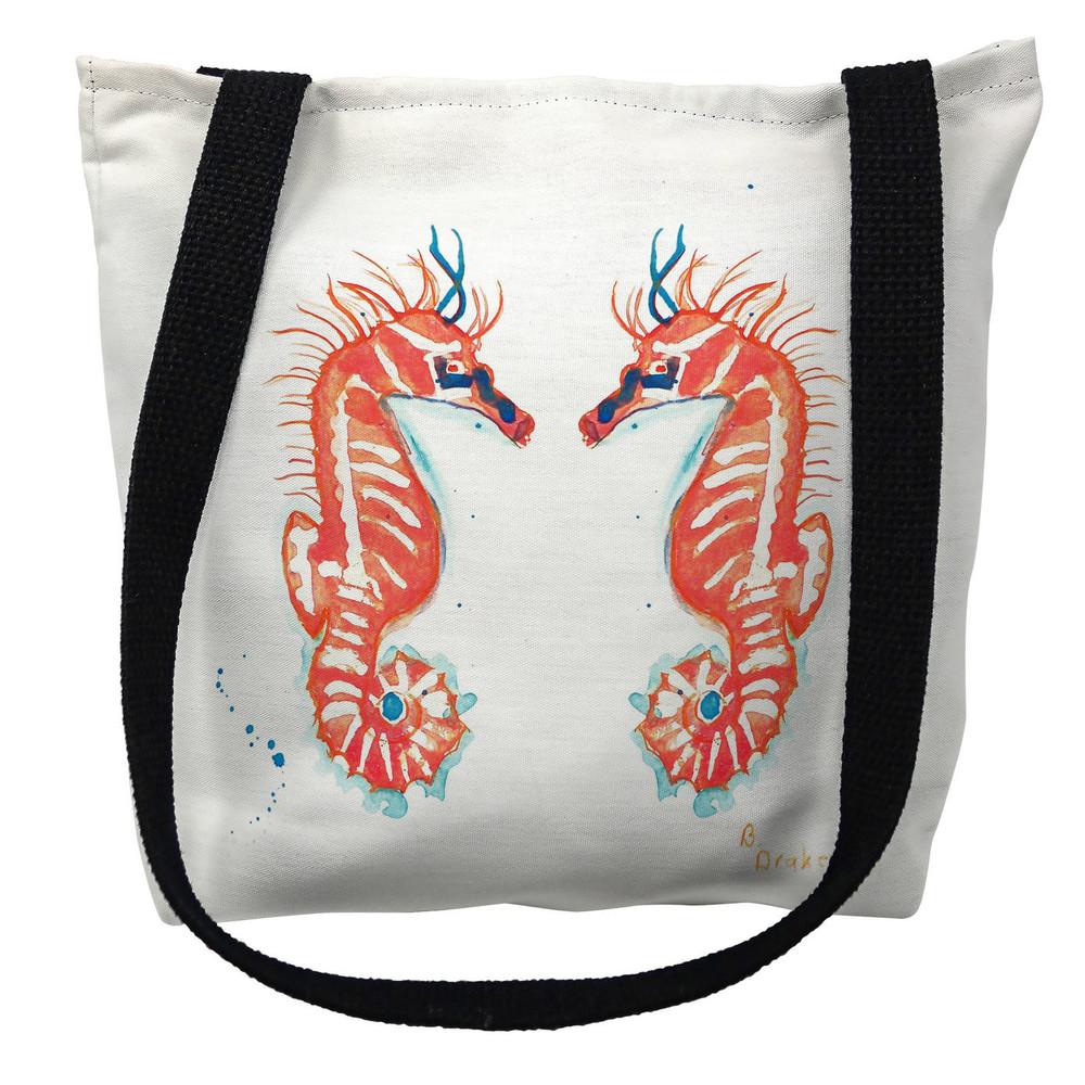 Coral Seahorses Tote Bag | Betsy Drake | TY100M