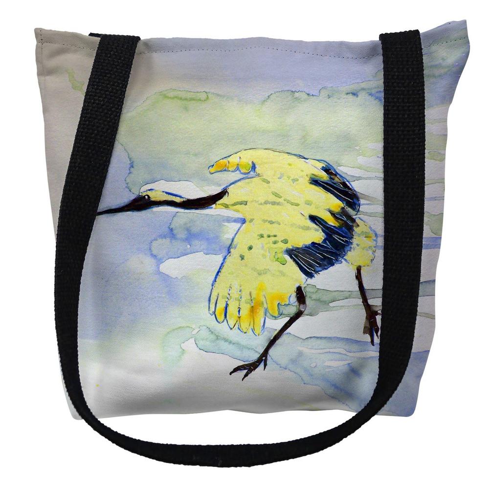 Yellow Crane Tote Bag   Betsy Drake   TY163M