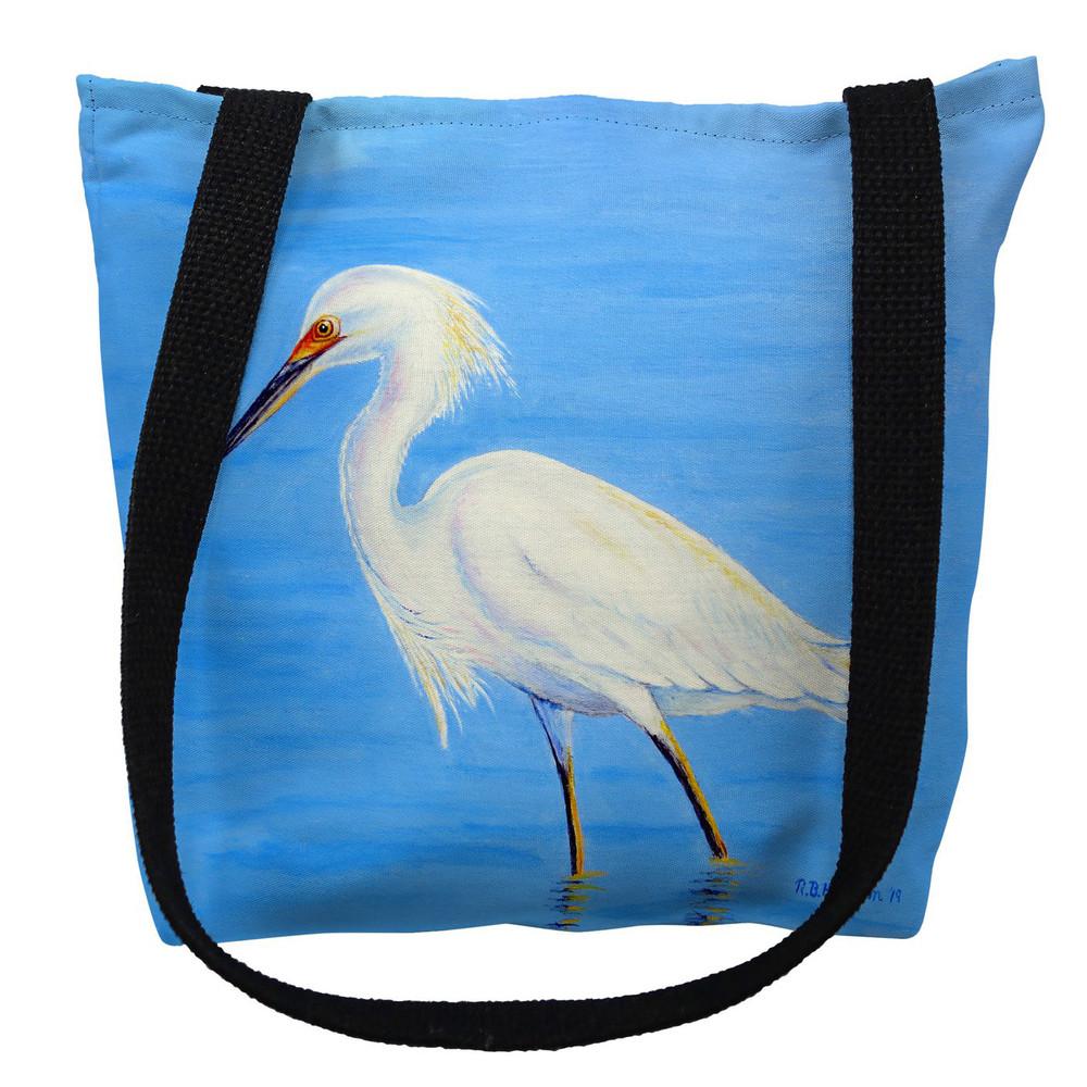 Stalking Snowy Egret Tote Bag | Betsy Drake | TY1087M