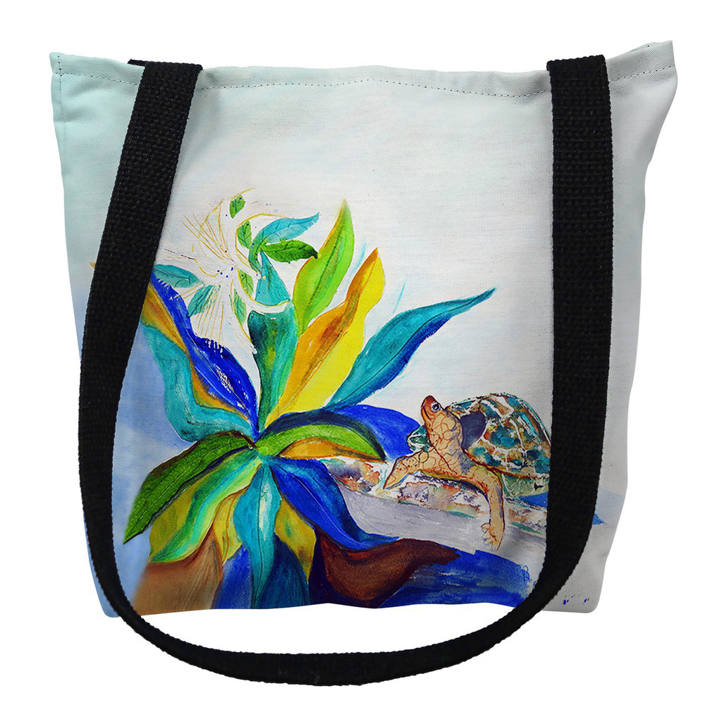 Turtle and Lily Tote Bag | Betsy Drake | TY1071M