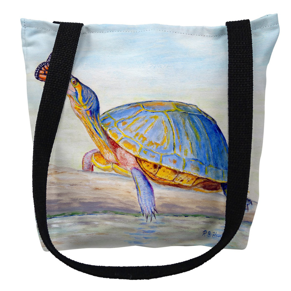 Turtle Butterfly Communicating Tote Bag | Betsy Drake | TY1067M