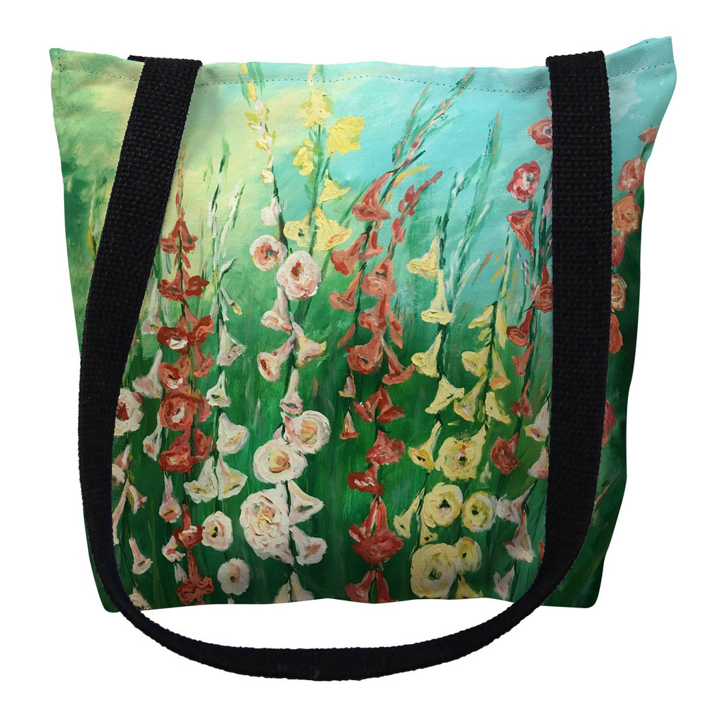 Hollyhocks Flower Tote Bag | Betsy Drake | TY1057M