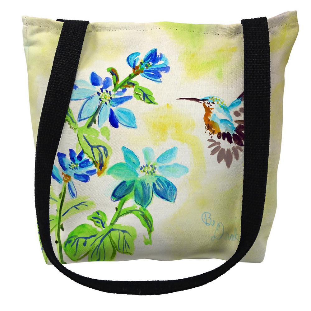 Aqua Hummingbird Tote Bag | Betsy Drake | TY1009M