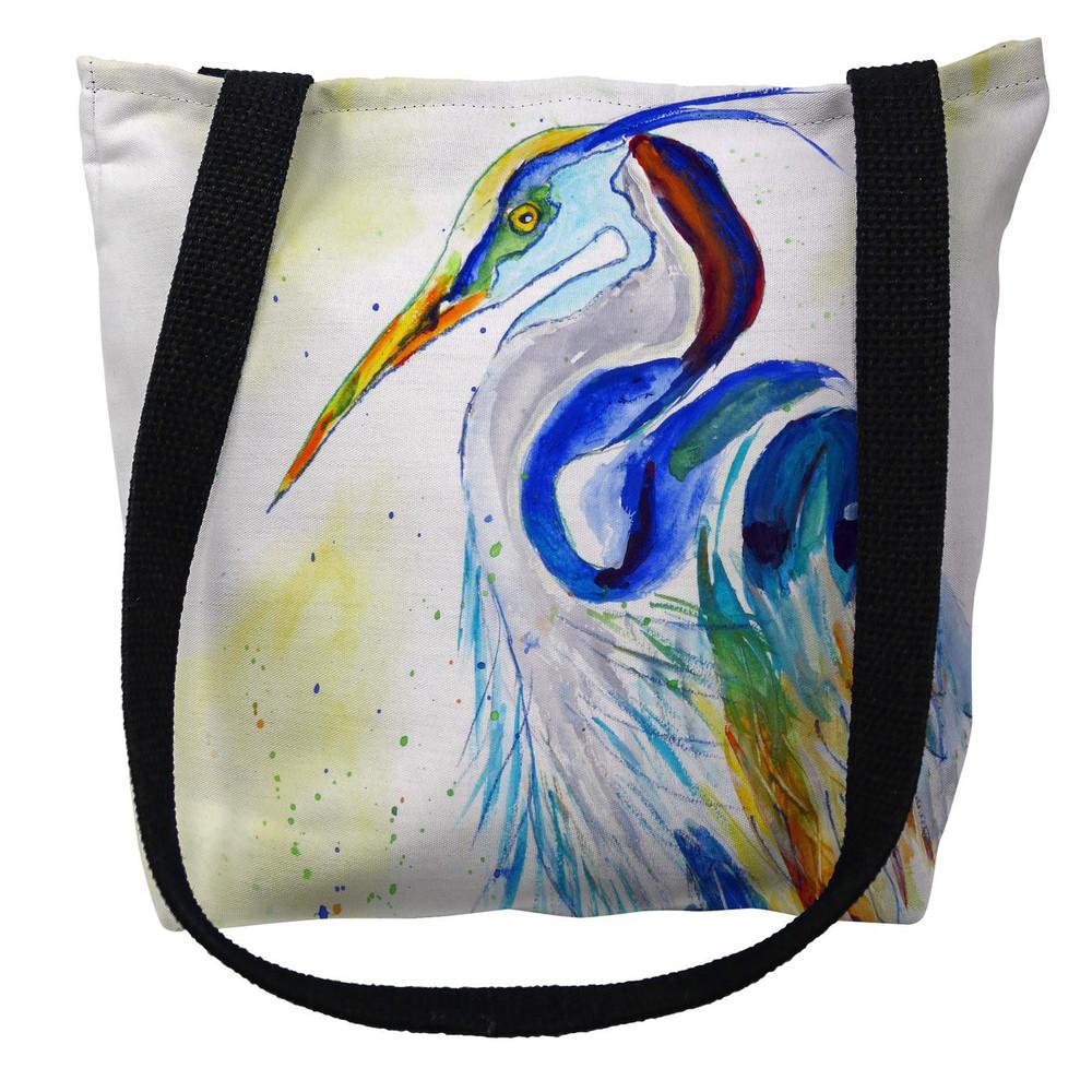 Watercolor Heron Tote Bag | Betsy Drake | TY1006M