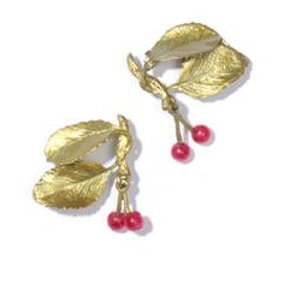 Cherry Post Earrings Silver Seasons | Michael Michaud Jewelry | SS4243BZRJ -2