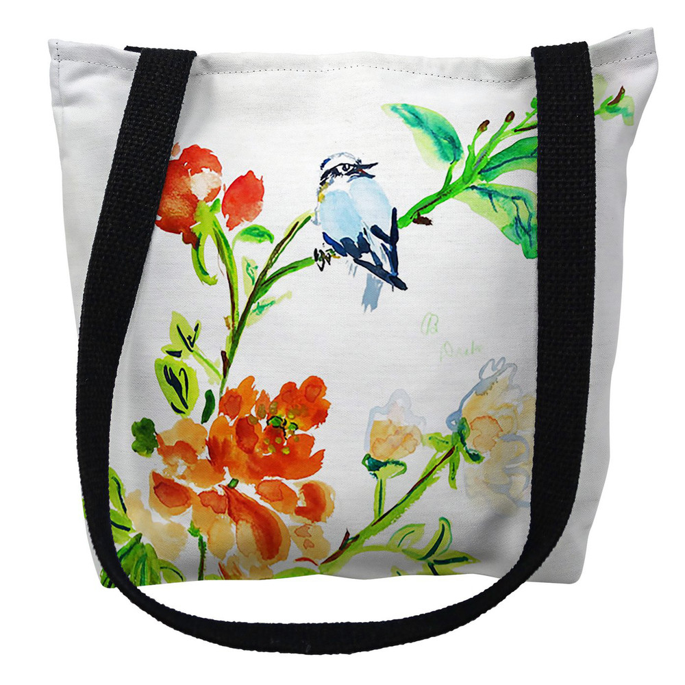 Blue Bird and Flowers Tote Bag | Betsy Drake | TY1103M
