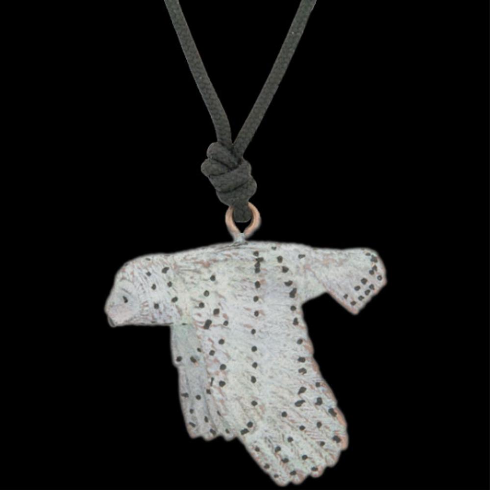 Snowy Owl Sculptural Pendant Necklace | Cavin Richie Jewelry | KB-56-PEND