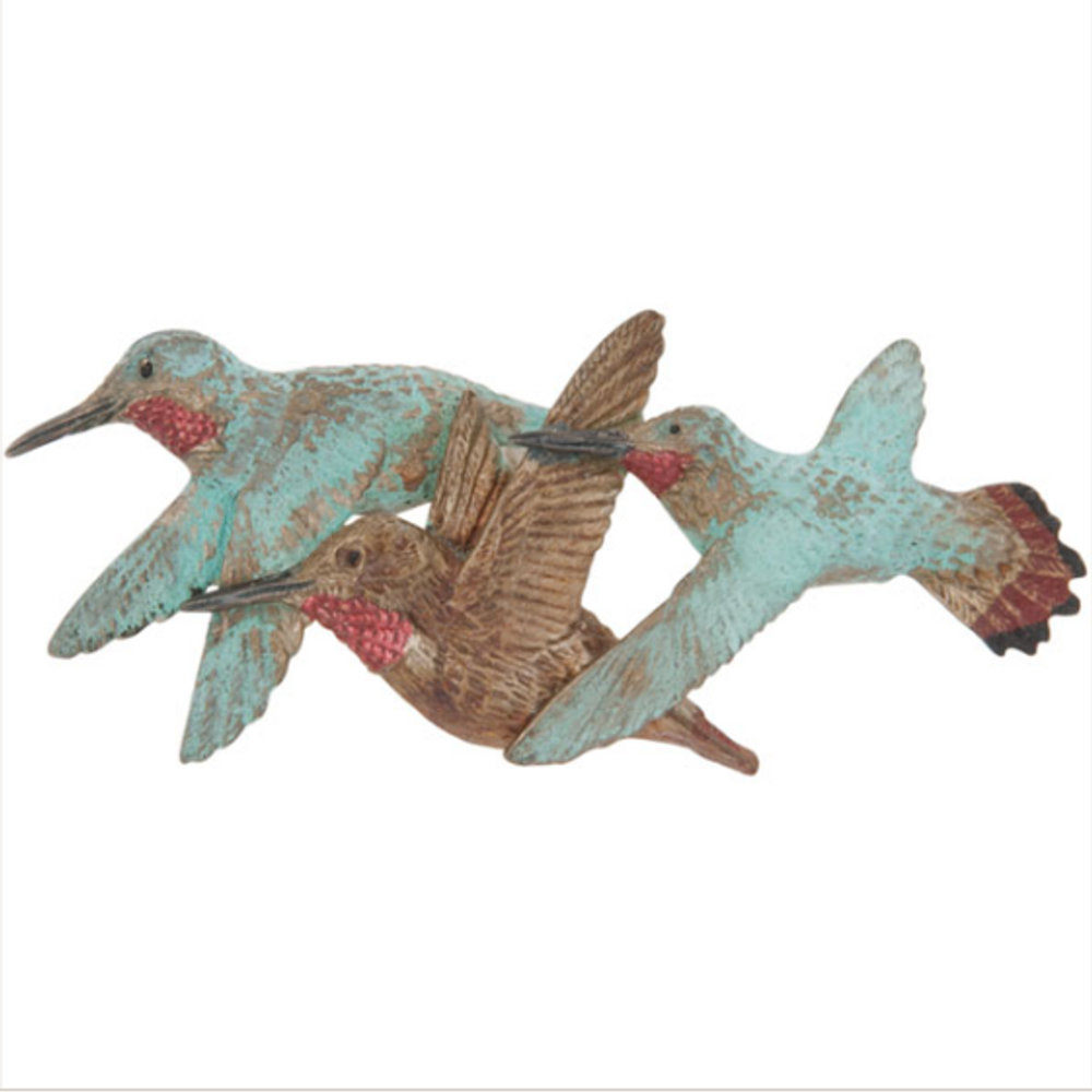 3 Rufous Hummingbirds Pin   Cavin Richie Jewelry   KB-235-PIN