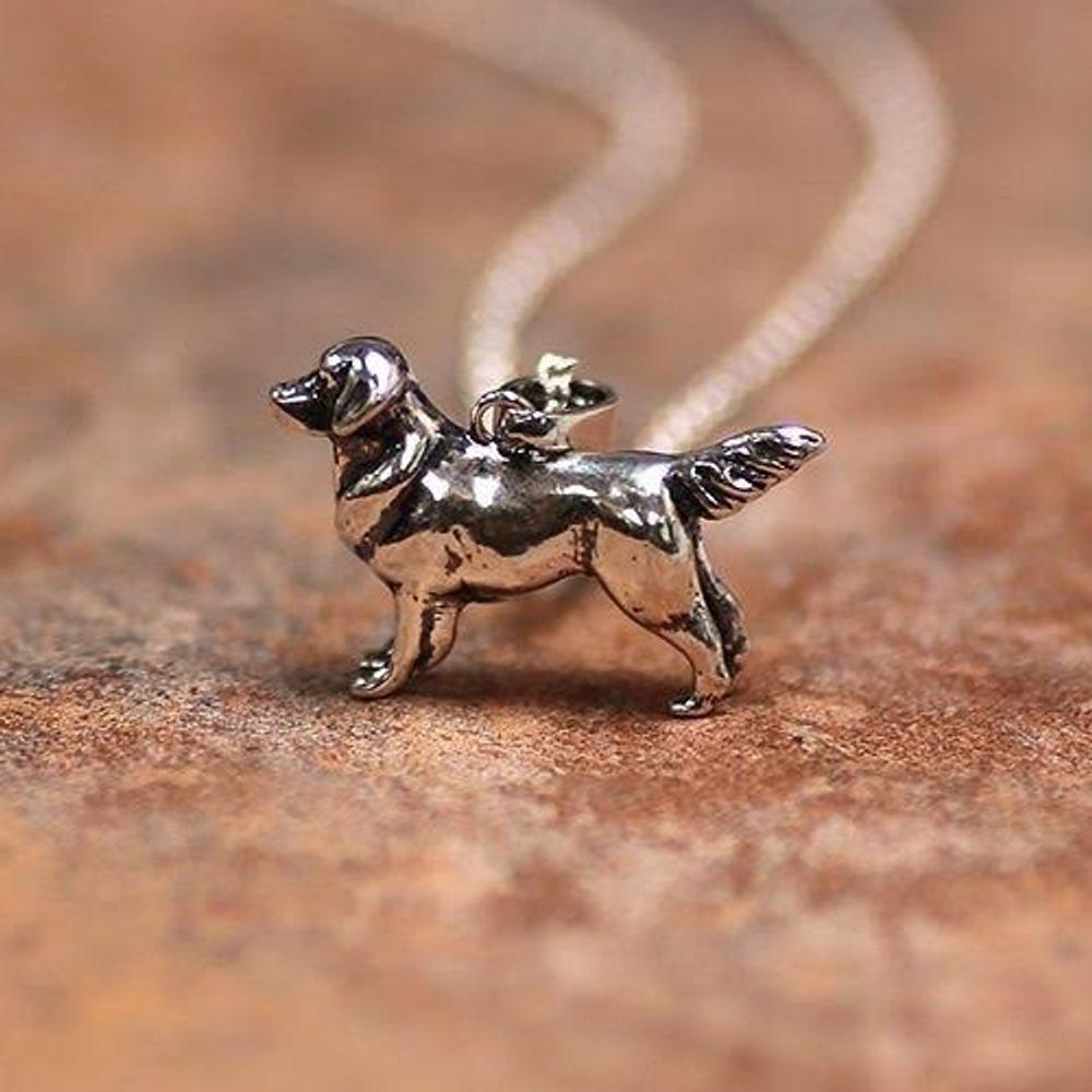 Golden Retriever Sterling Silver Pendant Necklace | Kabana Jewelry | SP453