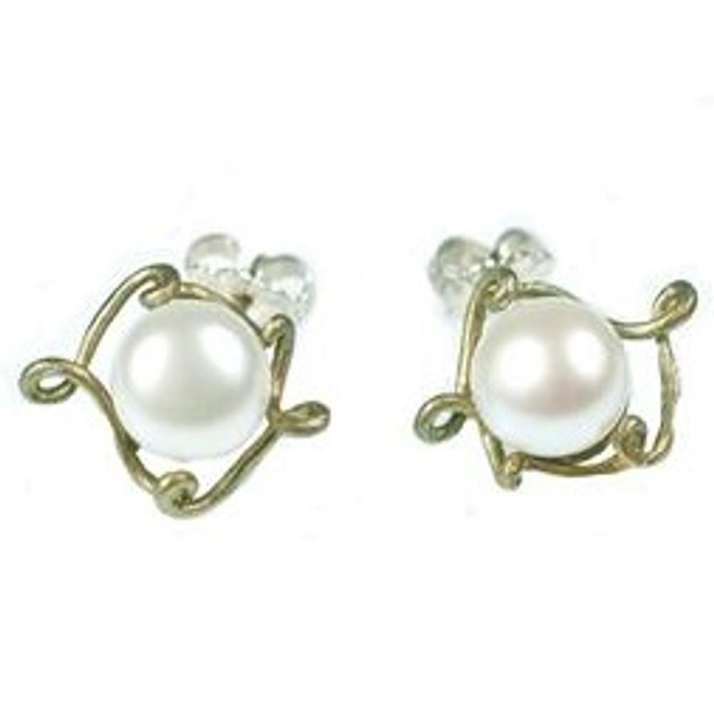 Peapod Post Earrings | Michael Michaud Jewelry | SS4297bzwp -2