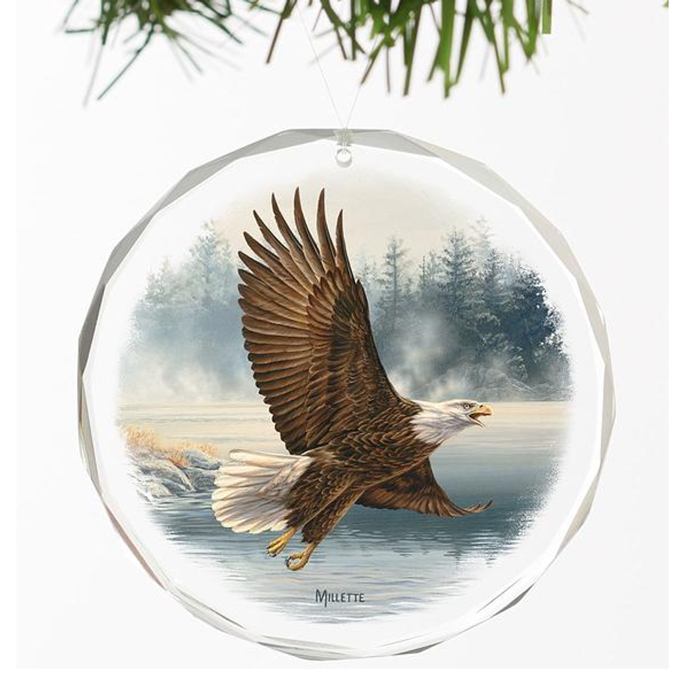 Eagle Crystal Ornament | Majestic Flight | Wild Wings