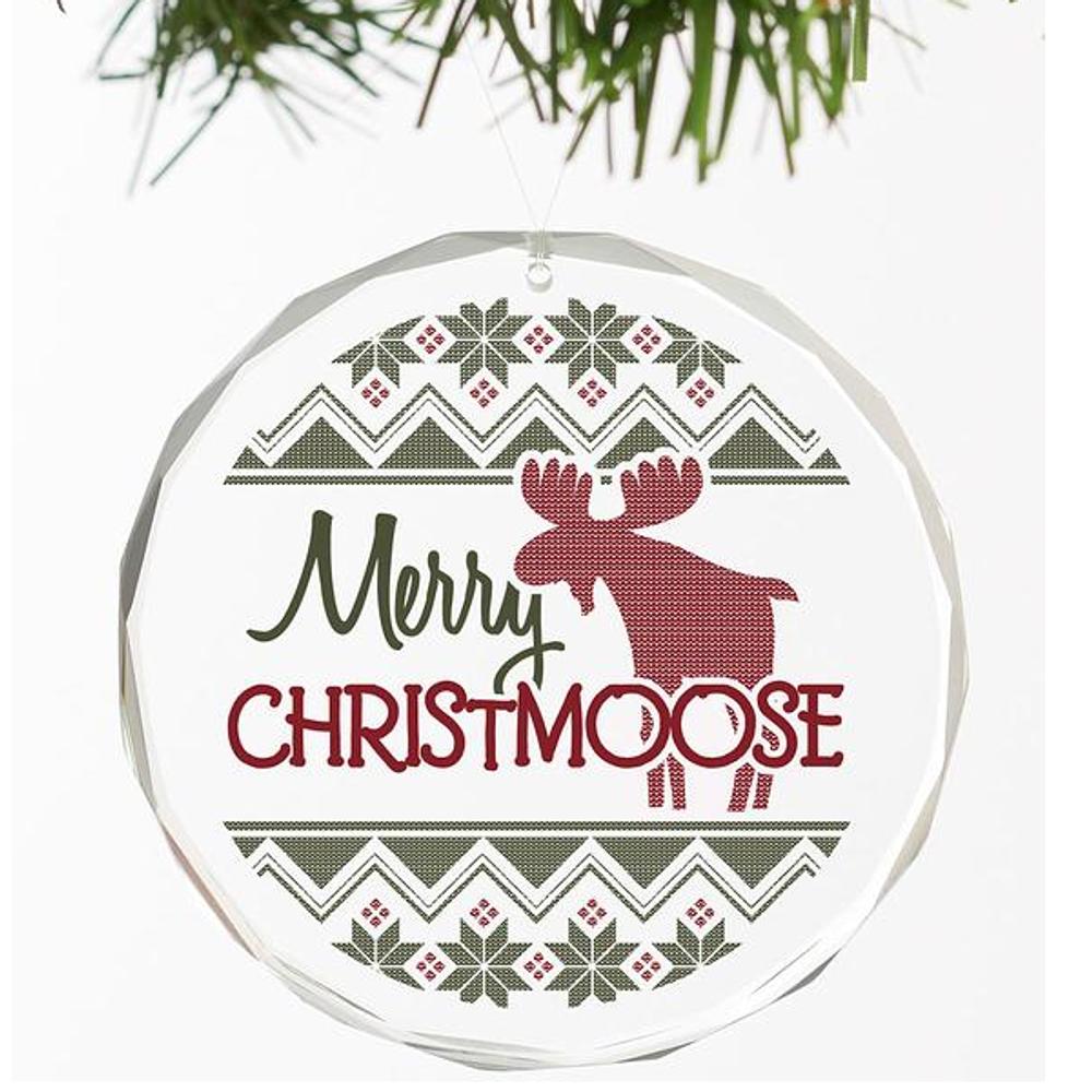 Moose Crystal Ornament | Merry Christmoose | Wild Wings