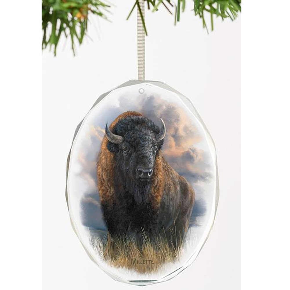 Bison Crystal Ornament   Distant Thunder   Wild Wings