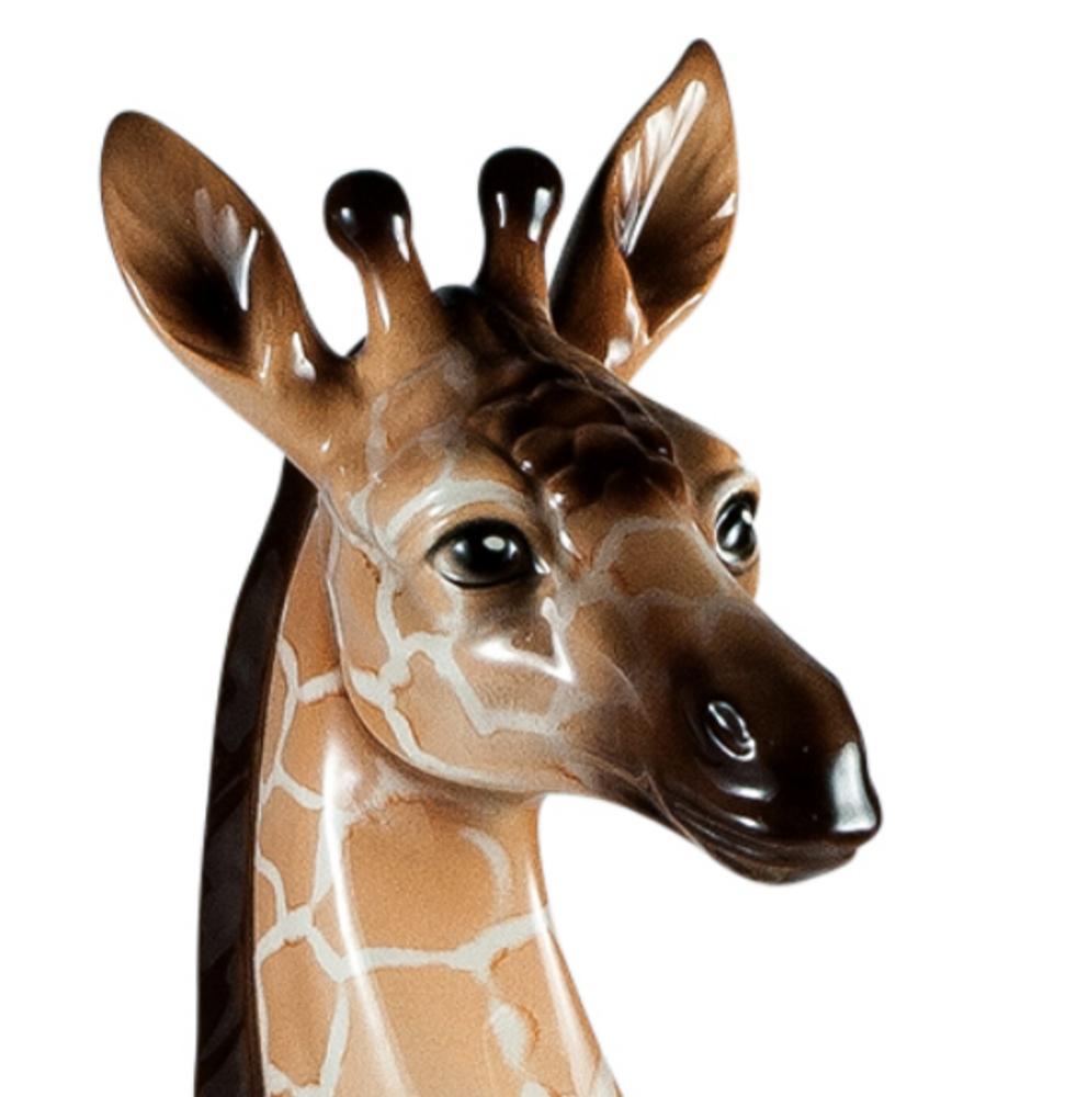 Giraffe Ceramic Sculpture   Intrada Italy   ANI1278