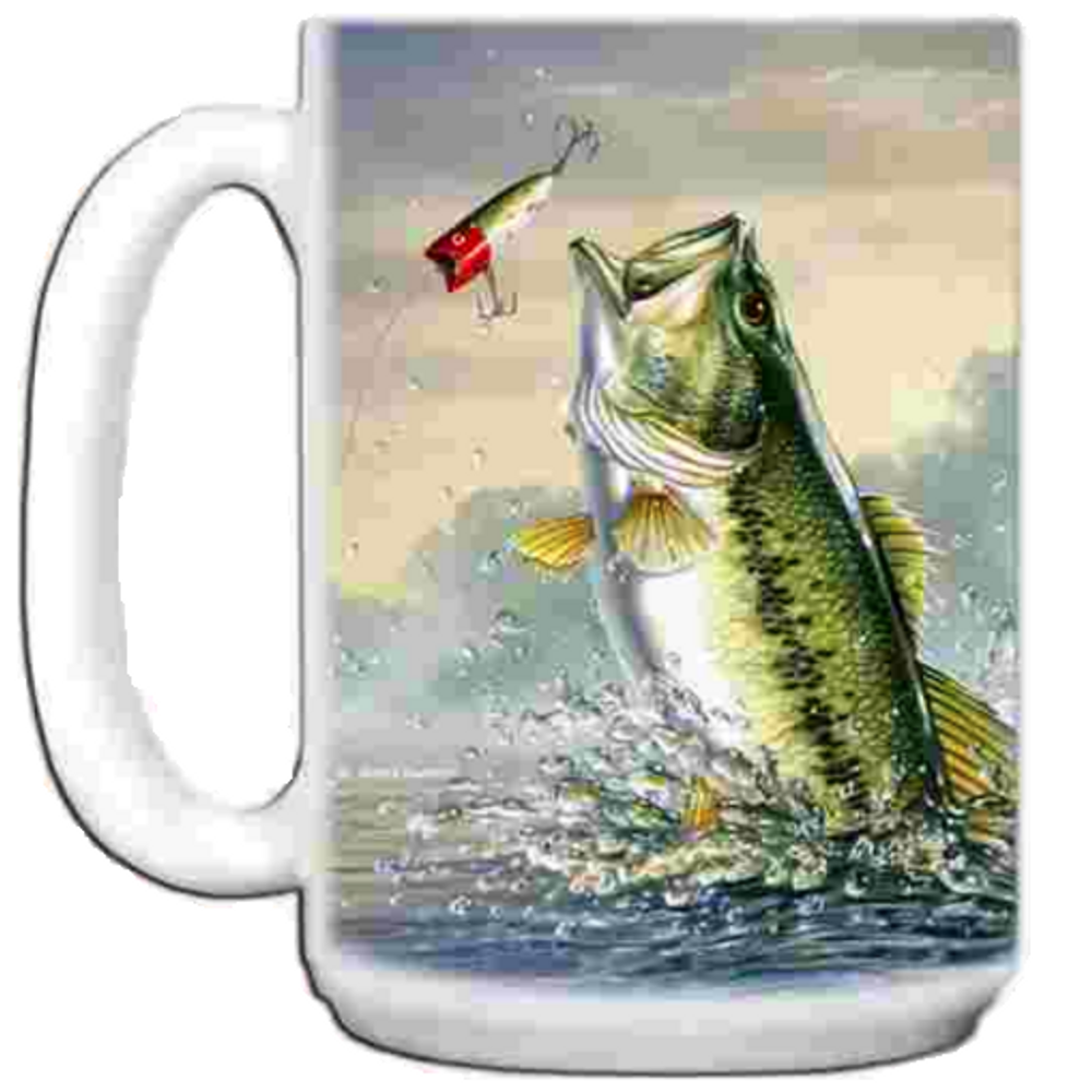 Bass 15oz Ceramic Mug | Bass Mug | CMGWHB1023