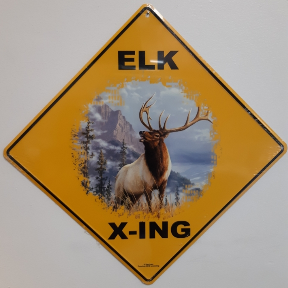 Elk Metal Crossing Sign | Elk Xing Sign | MXSHB1100