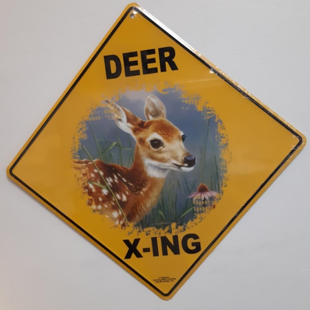Baby Deer Metal Crossing Sign | Baby Deer Xing Sign | MXS1097