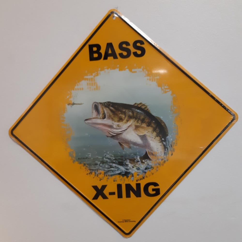 Bass Metal Crossing Sign | Bass Xing Sign | MXSHB1023