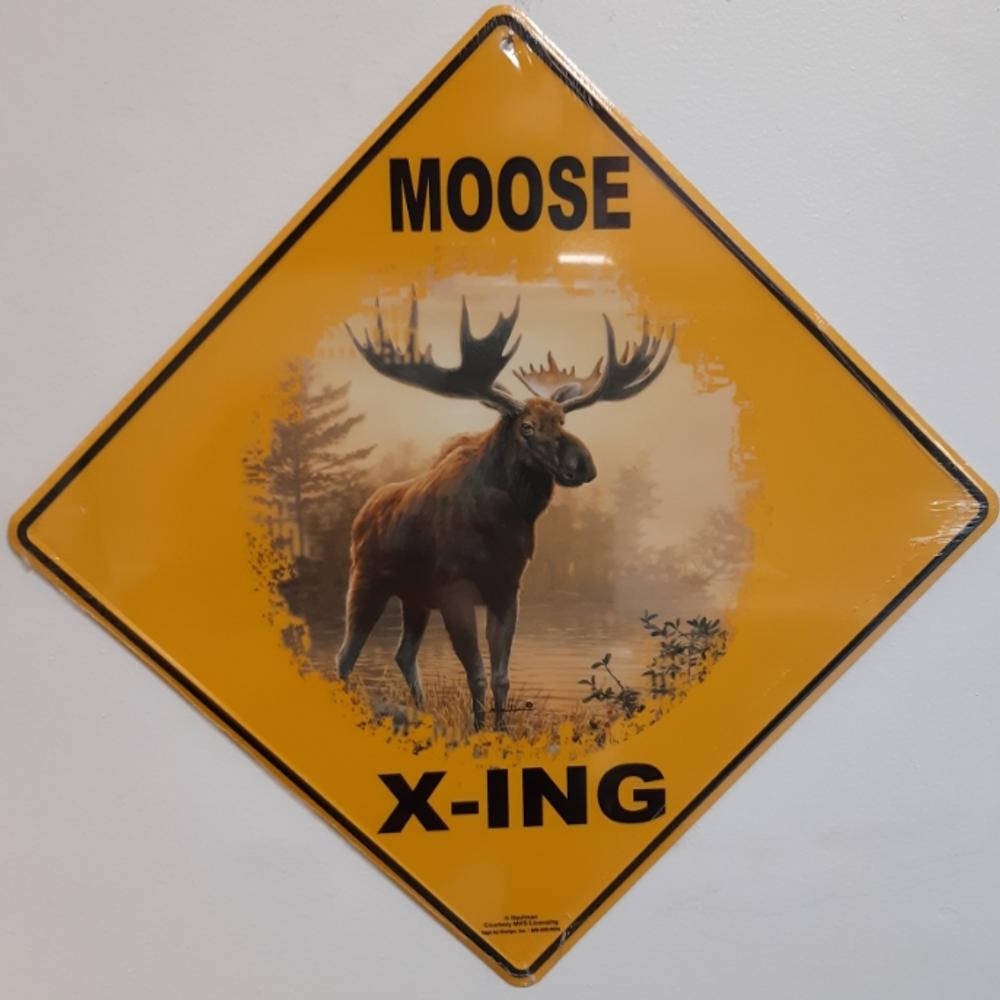 Moose Metal Crossing Sign | Moose Xing Sign | MXSHB3125