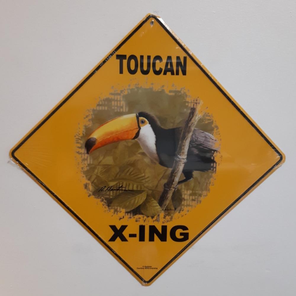 Toucan Metal Crossing Sign | Toucan X-ing Sign