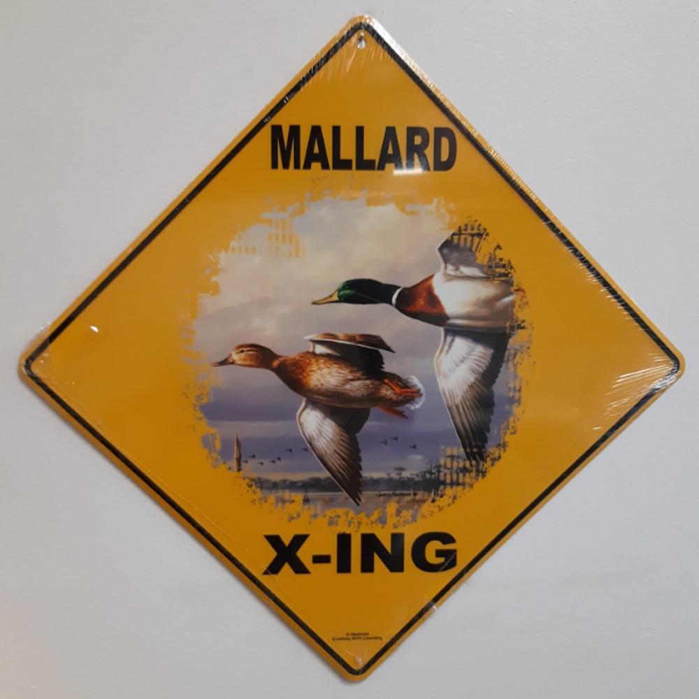 Mallard Metal Crossing Sign | Mallard X-ing Sign