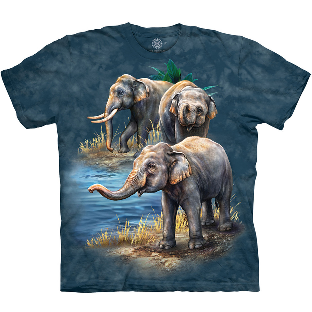 Asian Elephant Collage Unisex Cotton T-Shirt | The Mountain | 105979 | Asian Elephant T-Shirt