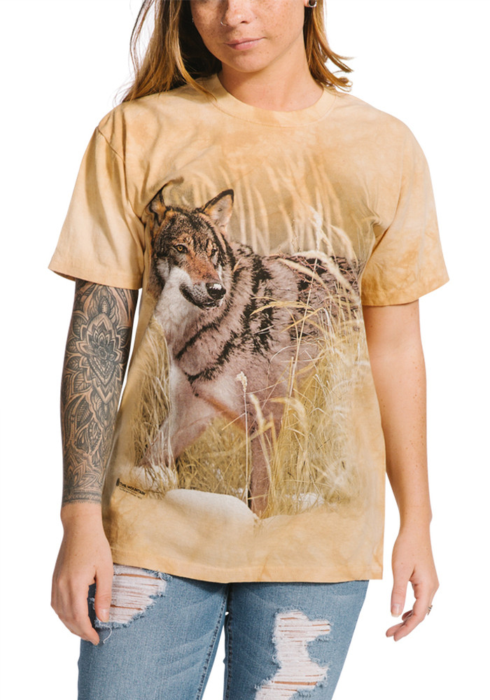 Winter Wolf Portrait Unisex Cotton T-Shirt | The Mountain | 105891 | Wolf T-Shirt