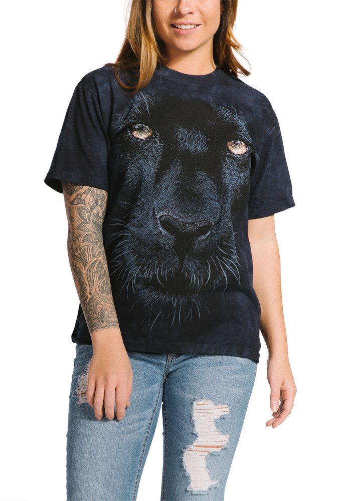 Panther Gaze Unisex Cotton T-Shirt | The Mountain | 105963 | Panther T-Shirt