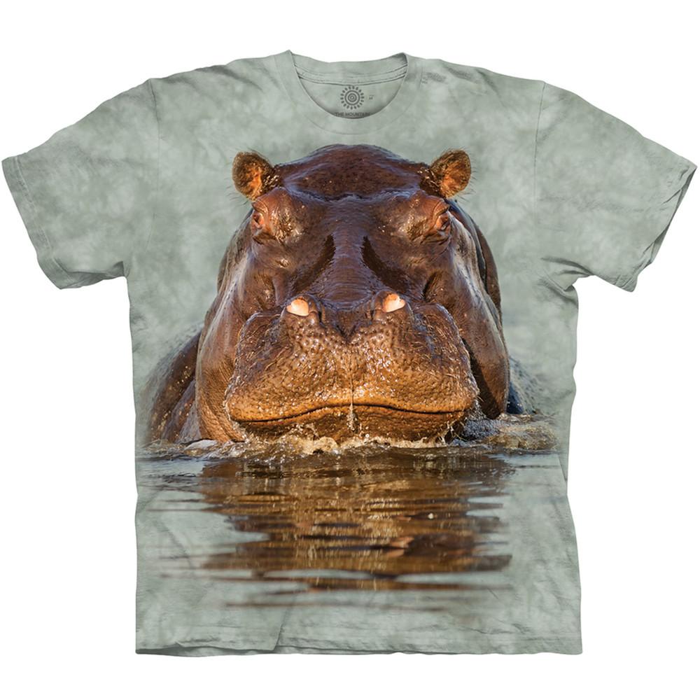 Hippo Unisex Cotton T-Shirt | The Mountain | 105960 | Hippo T-Shirt