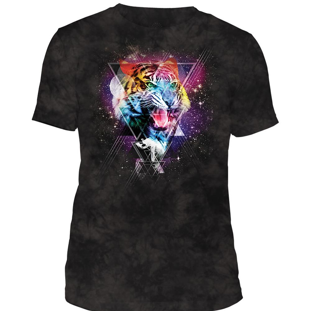 Cosmic Tiger Unisex Tri-Blend T-Shirt | The Mountain | 546335 | Tiger T-Shirt
