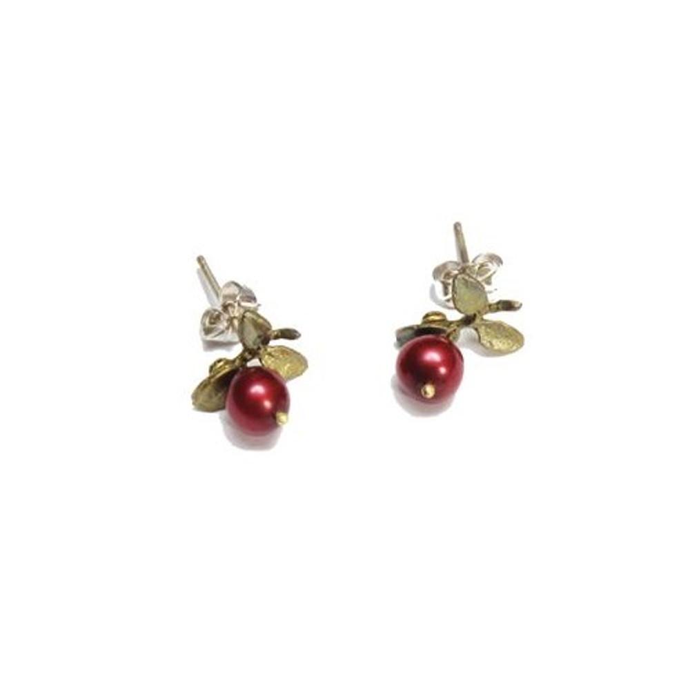 Cranberry Pierced Earrings | Michael Michaud Jewelry | SS4408bzcr