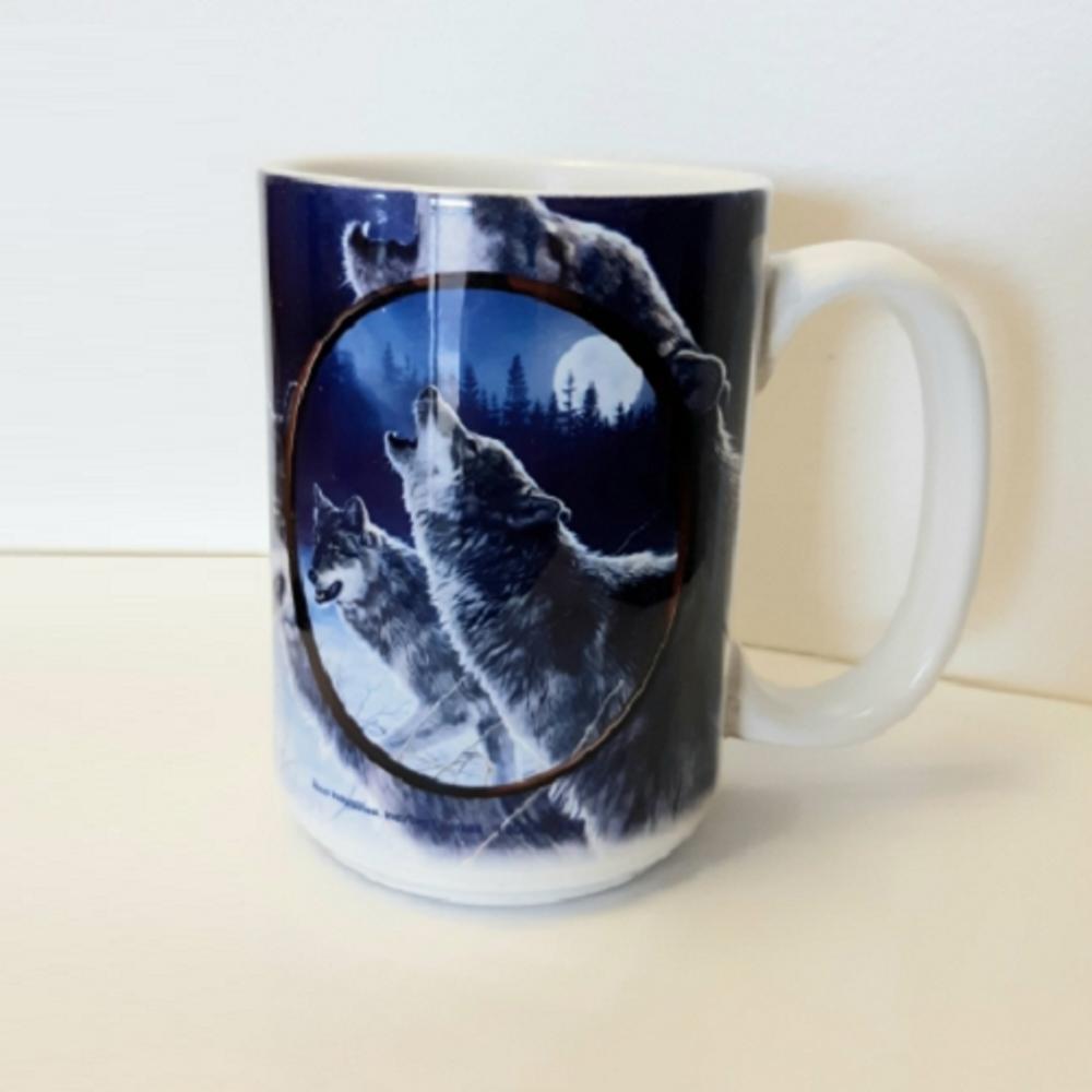 Wolf 15oz Ceramic Mug | Wolf Mug | CMGWHB1077