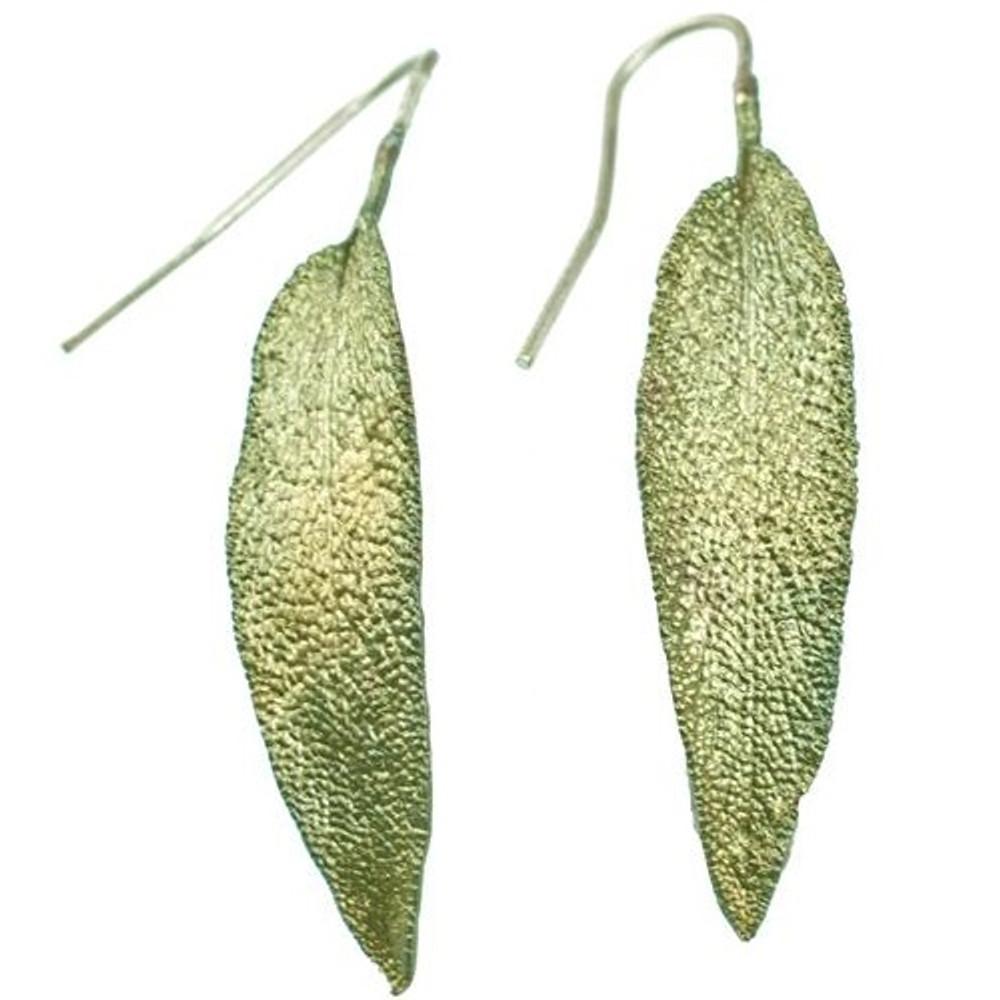 Sage Leaf Earrings | Michael Michaud Jewelry | SS4412bz