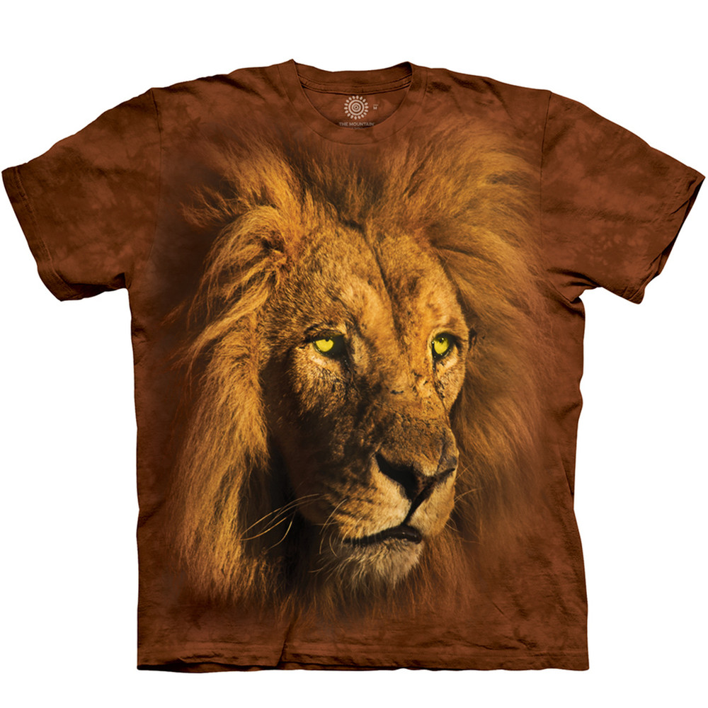 Proud King Lion Unisex Cotton T-Shirt | The Mountain | 106272 | Lion T-Shirt