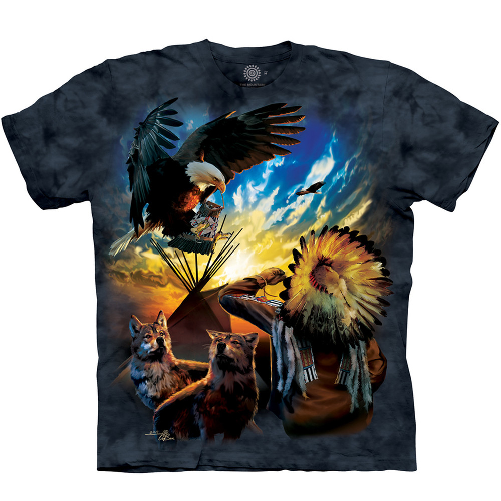 Eagle Blessings of Peace Unisex Cotton T-Shirt | The Mountain | 105957 | Eagle T-Shirt