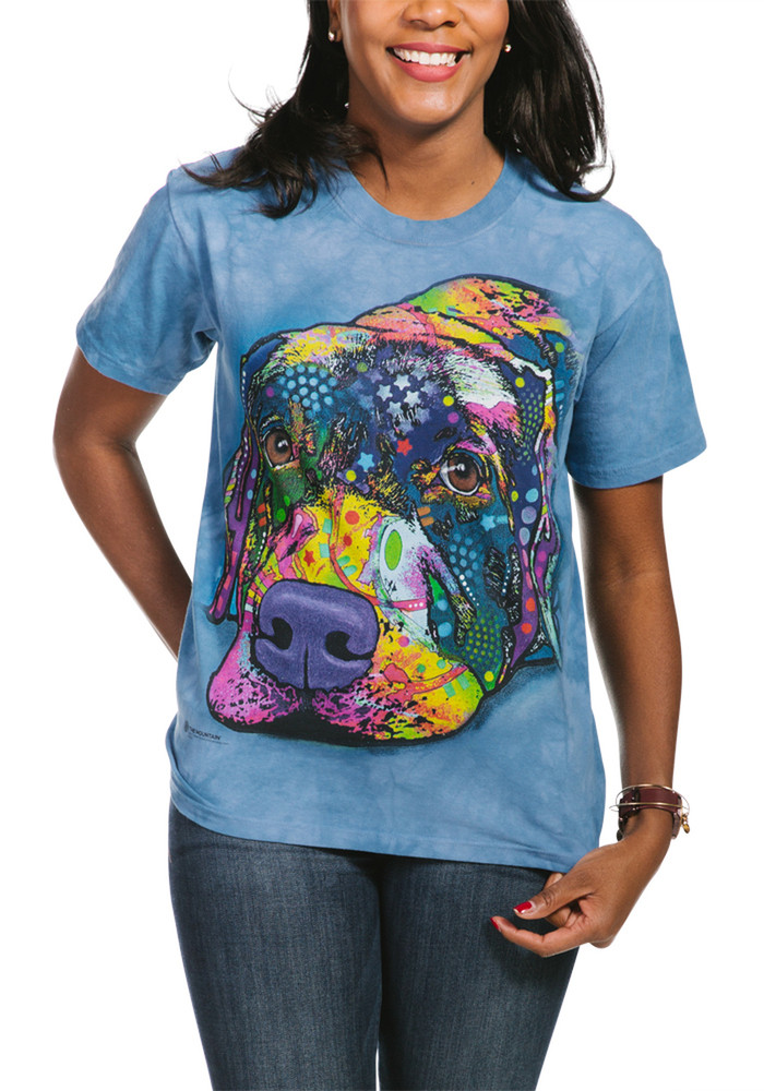 Savvy Labrador Unisex Cotton T-Shirt   The Mountain   105944   Lab T-Shirt