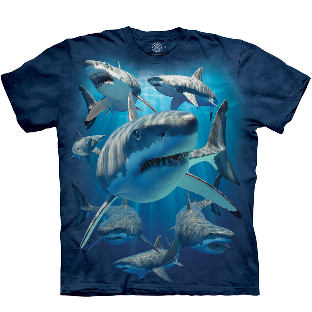 Great White Shark Unisex Cotton T-Shirt | The Mountain | 105940 | Shark T-Shirt