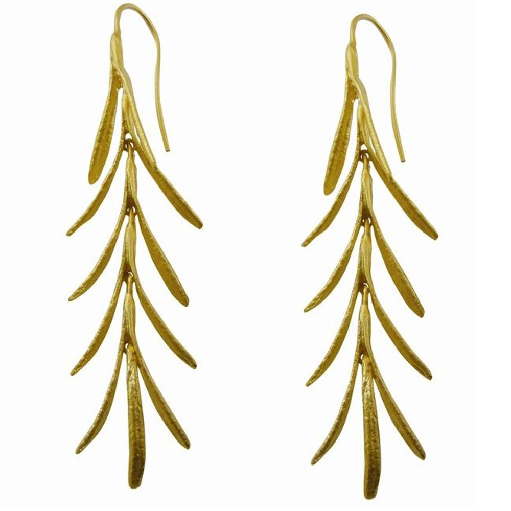 1bed8e7a4a57f Rosemary Gold Plated Wire Earrings | Nature Jewelry