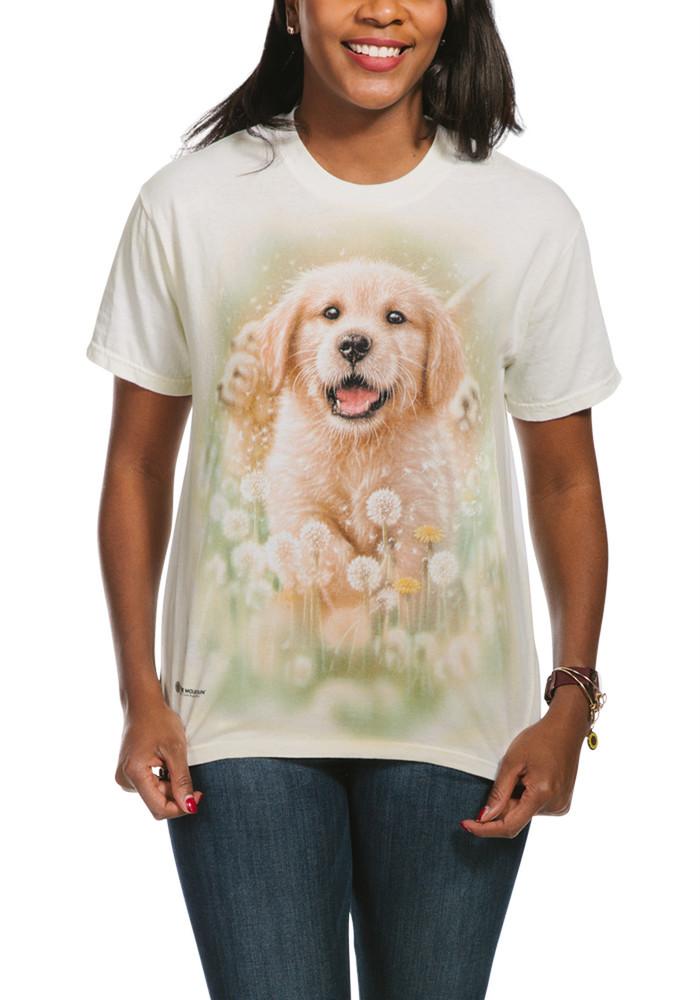 Golden Puppy Unisex Cotton T-Shirt | The Mountain | 105933 | Golden Retriever T-Shirt