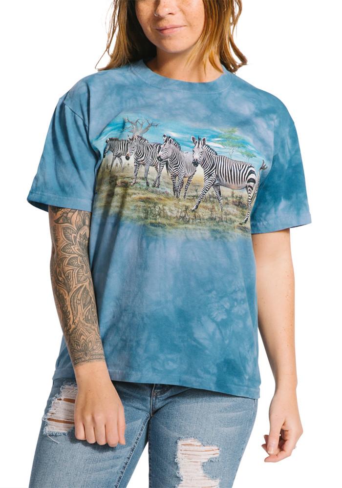 Zebra Gathering Unisex Cotton T-Shirt | The Mountain | 105913 | Zebra T-Shirt