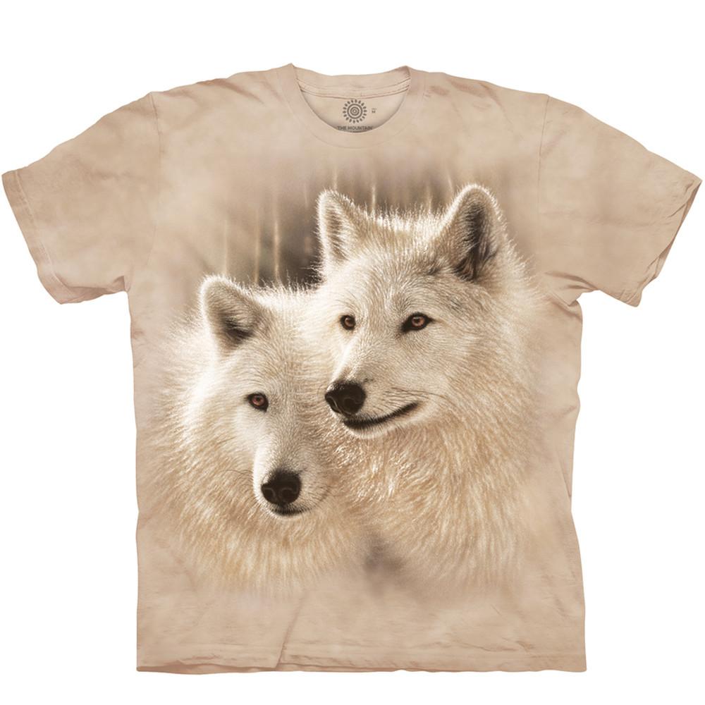Sunlit Soulmates Wolves Unisex Cotton T-Shirt | The Mountain | 105908 | Wolf T-Shirt