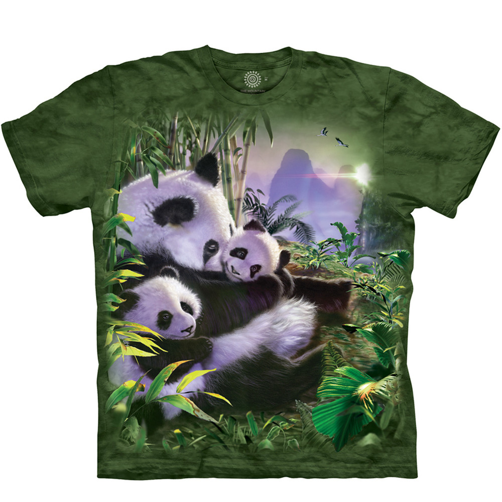 Panda Cuddles Unisex Cotton T-Shirt | The Mountain | 105886 | Panda T-Shirt