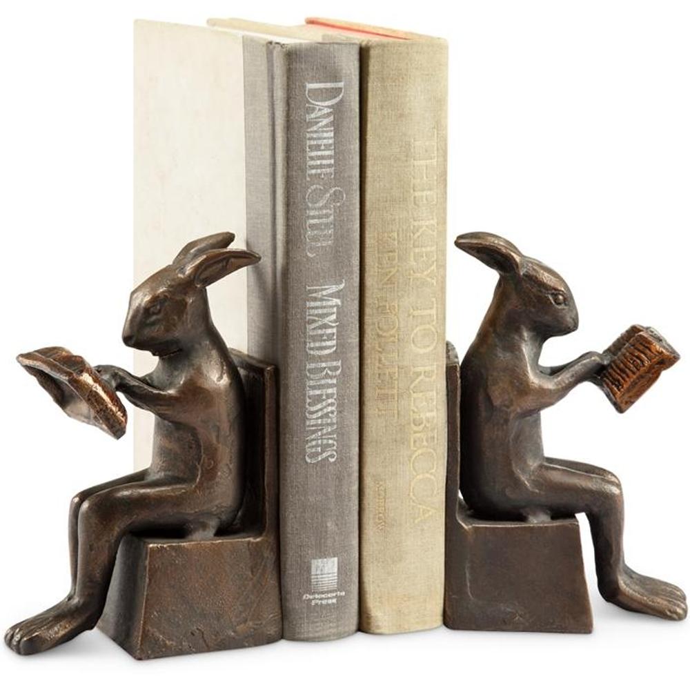 Rabbit Sculptural Bookends   50853   SPI Home