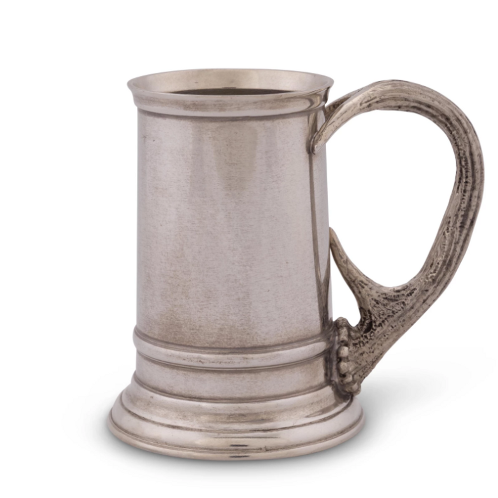 Pewter Stag Handle English Mug | Vagabond House | A109P