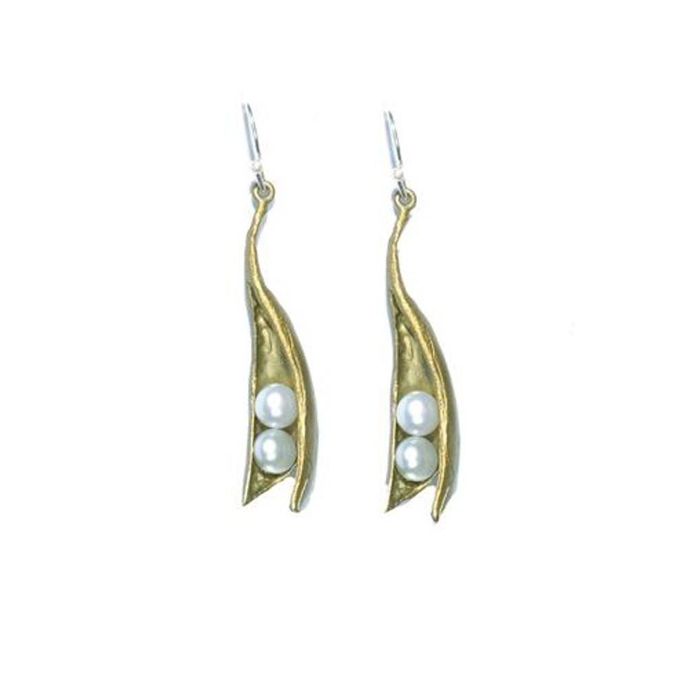 Peapod Two Pearl Earrings | Michael Michaud Jewelry | SS4496BZWP