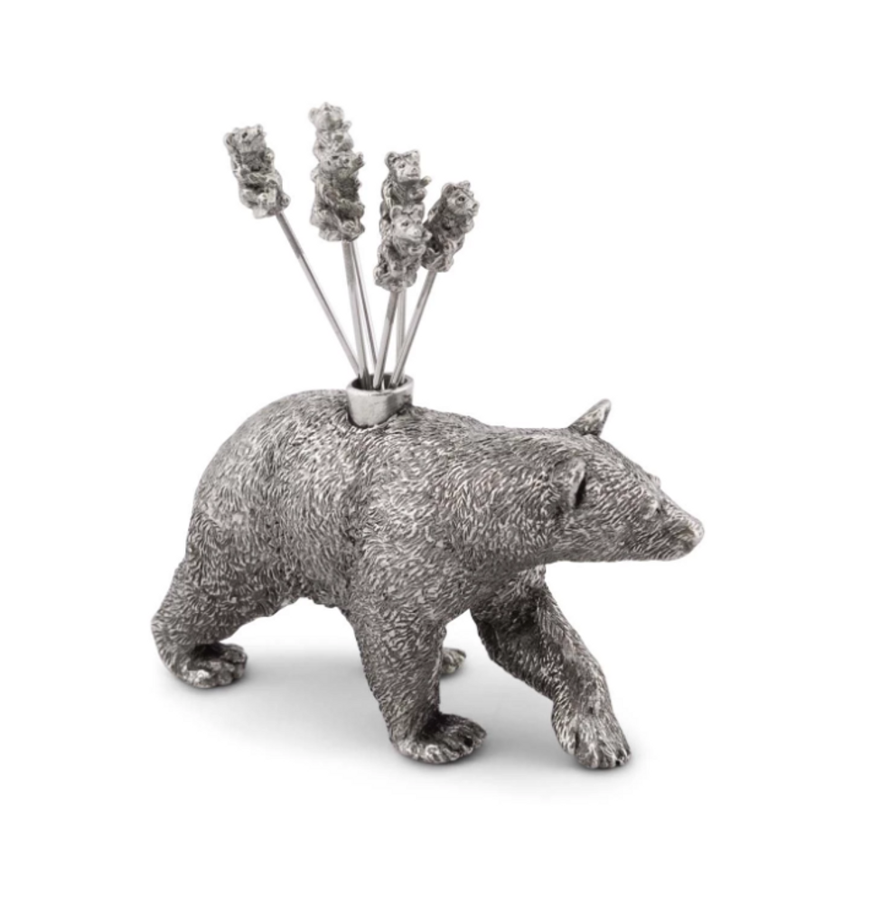 Black Bear Pewter Cheese Picks | Vagabond House | B883BR