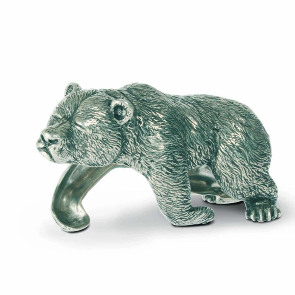 Sleeping Bear Pewter Napkin Ring Set of Four | Vagabond House | V973-4