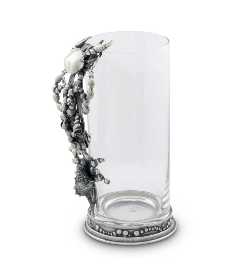 Crab and Marine Life Handle Glass Pitcher | Vagabond House | O100